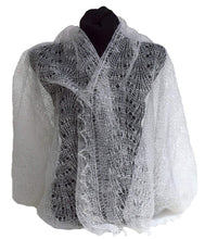 Load image into Gallery viewer, Fedelkea Orenburg Scarf Wrap Lace Knitted Wool Goat Down Russian Handmade