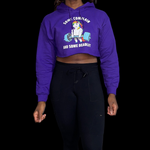 Some Deadlift Cropped Hoodie