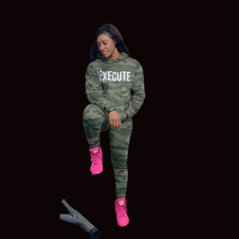EXECUTE Heavyweight Camo Hoodie (double sided)