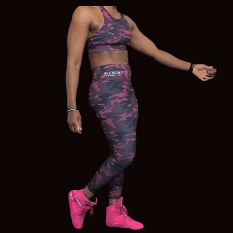 Cranberry Camo Sports Bra * plus available
