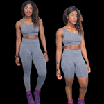 Seamless Triset - Charcoal Gray