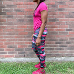 Pink Assassin Camo Leggings- Small only