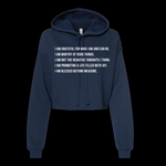 Women's Fleece Collection- Affirimation Cropped Hoodie