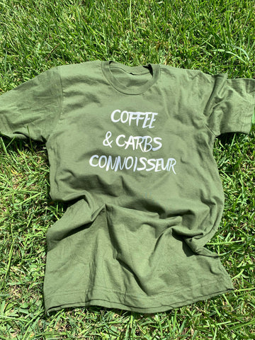 (Unisex) Coffee and Carbs Connoisseur Tee