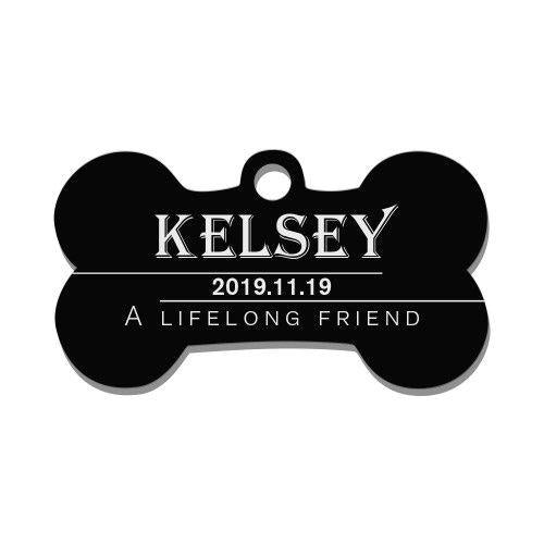 Engraved Pet Tag Bone Simple Style Stainless Steel-4 Colors