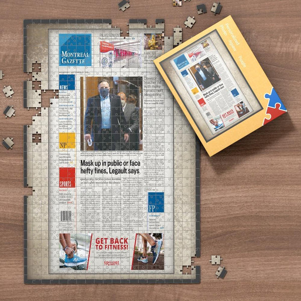 Canada Newspapers Jigsaw Puzzle - Montreal Gazette