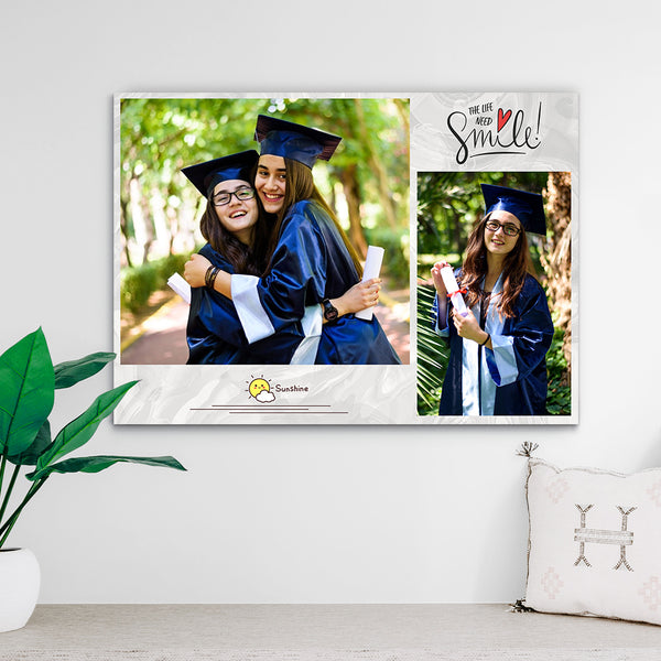 Custom Photo Print - The best graduation gift with 2 Photos