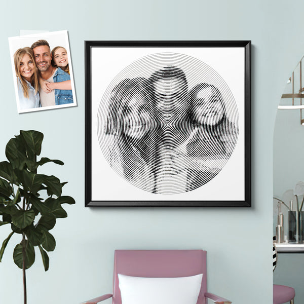 Custom Famliy Photo Canvas Wall Decor Painting With 4 Pieces