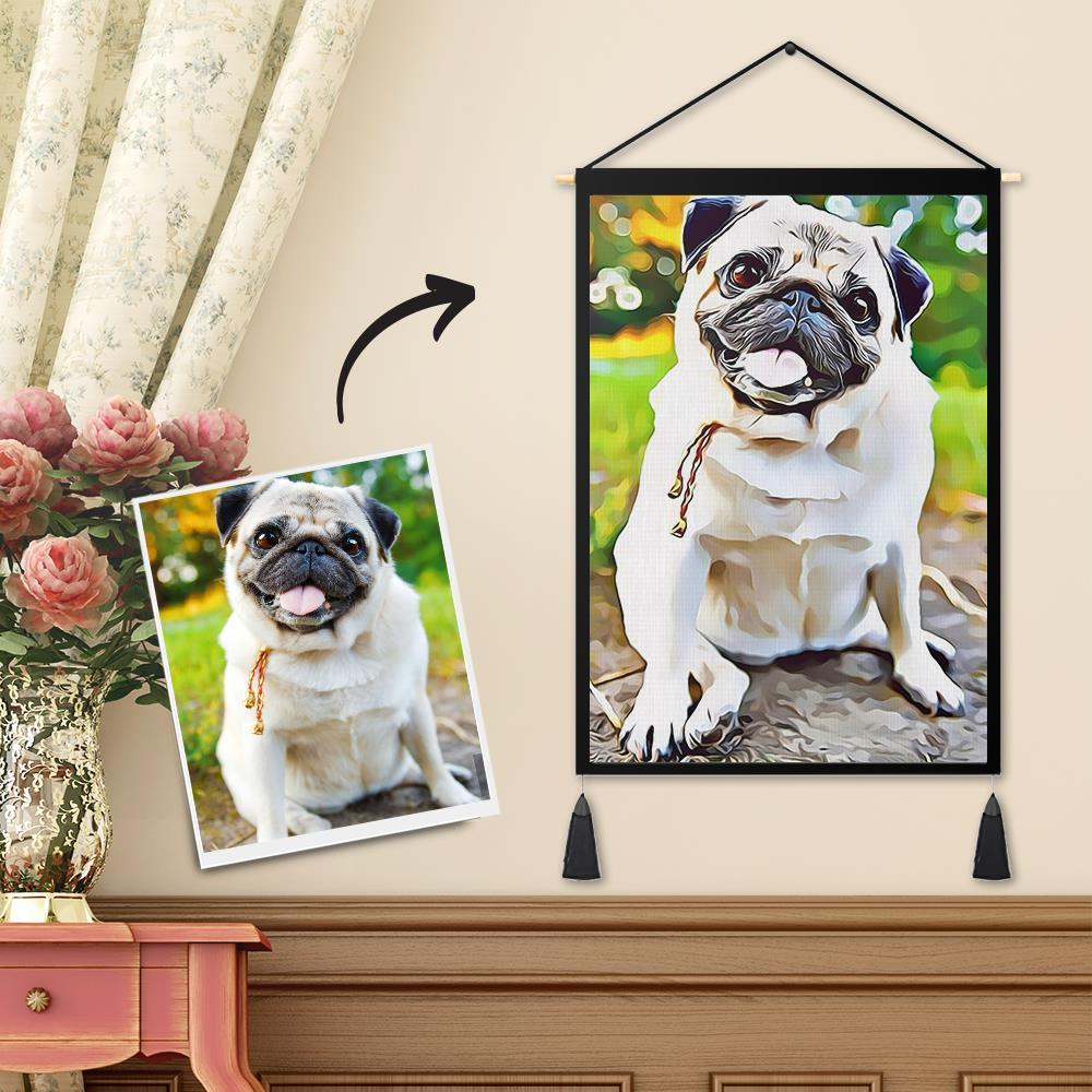 Personalized Art Painting Custom Photo Tapestry - Wall Decor Hanging Fabric Hanger Frame Poster