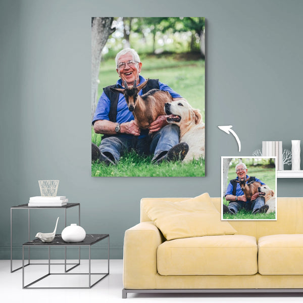 Custom Photo Canvas Personalized Wall Decor Painting For Your Pets
