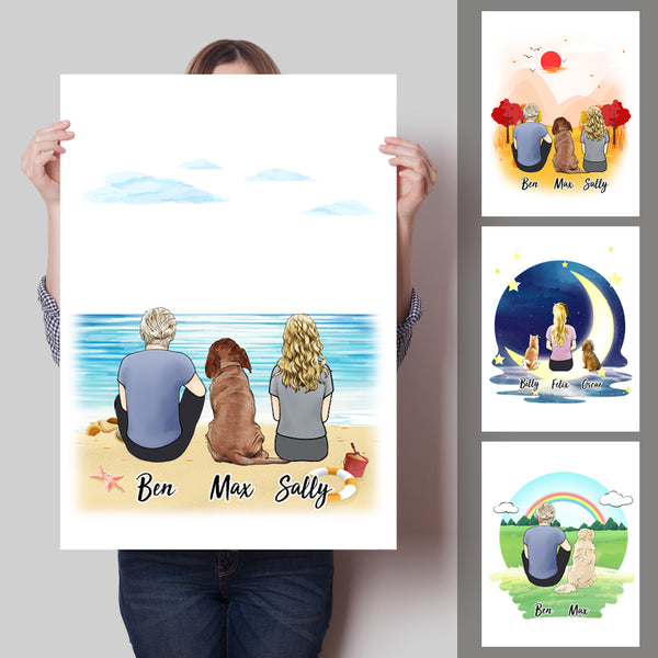 Custom Personalized Vertical Canvas Prints - Good Times For Pets and Owners-DIY frame