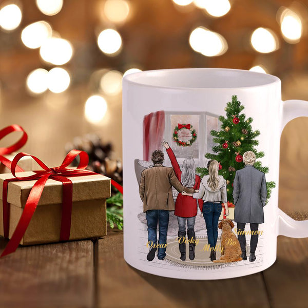 Personalized Coffee Mug - Family, Friends & Pets (Online Design & 3D Preview)