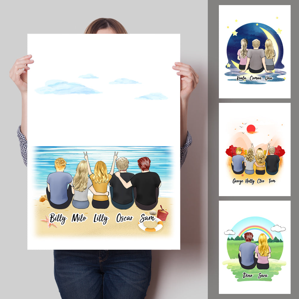 Personalized Best Friends Canvas With Name - Vertical