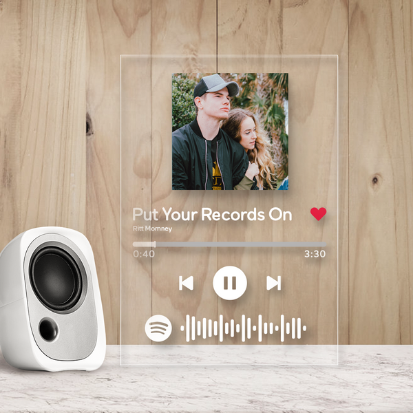 Custom Spotify Glass Code Plaques - Best Christmas Gift
