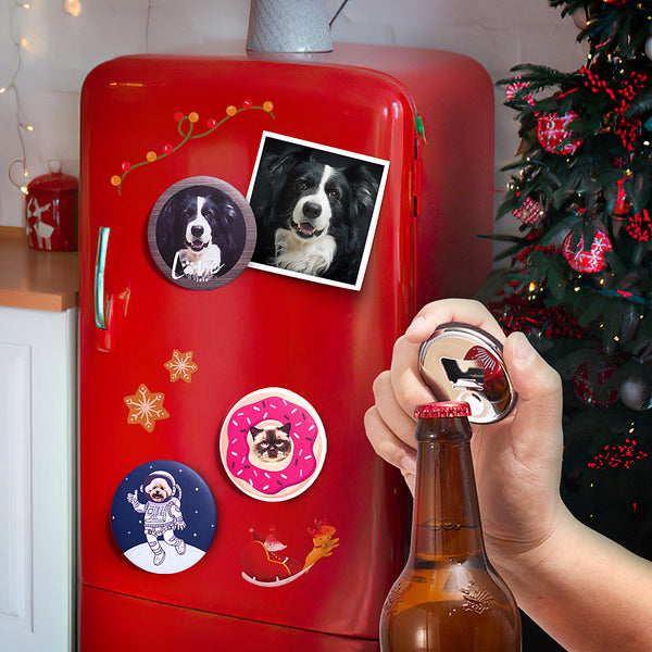 Personalized Fridge Magnet Bottle Opener Cute Dog