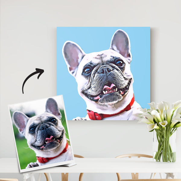 Custom Pet Canvas-Personalized Dog Portrait-DIY frame