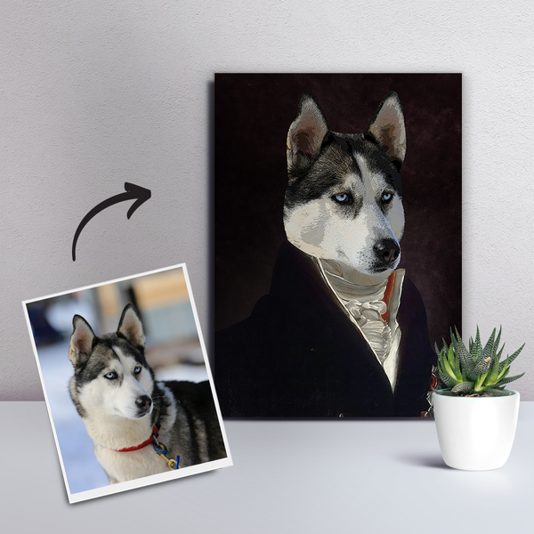 Custom Pet Dog Canvas - The Noble-DIY Frame
