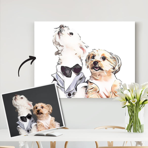 Custom Pet Canvas-Personalized Home Decor Custom Dog Canvas-DIY frame