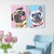 Custom Pet Canvas Print Personalized Dog Portrait-DIY Frame Gift