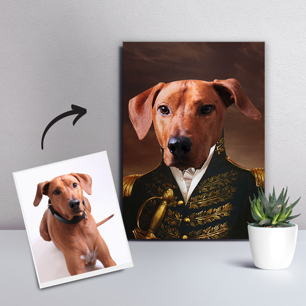 Custom Pet Dog Canvas - The General-DIY Frame