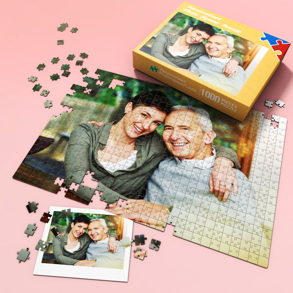 Personalized Photo Puzzle - As Great Family Gift For Father