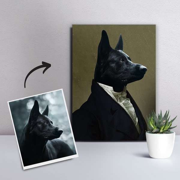 Custom Pet Dog Canvas - The Ambassador-DIY Frame
