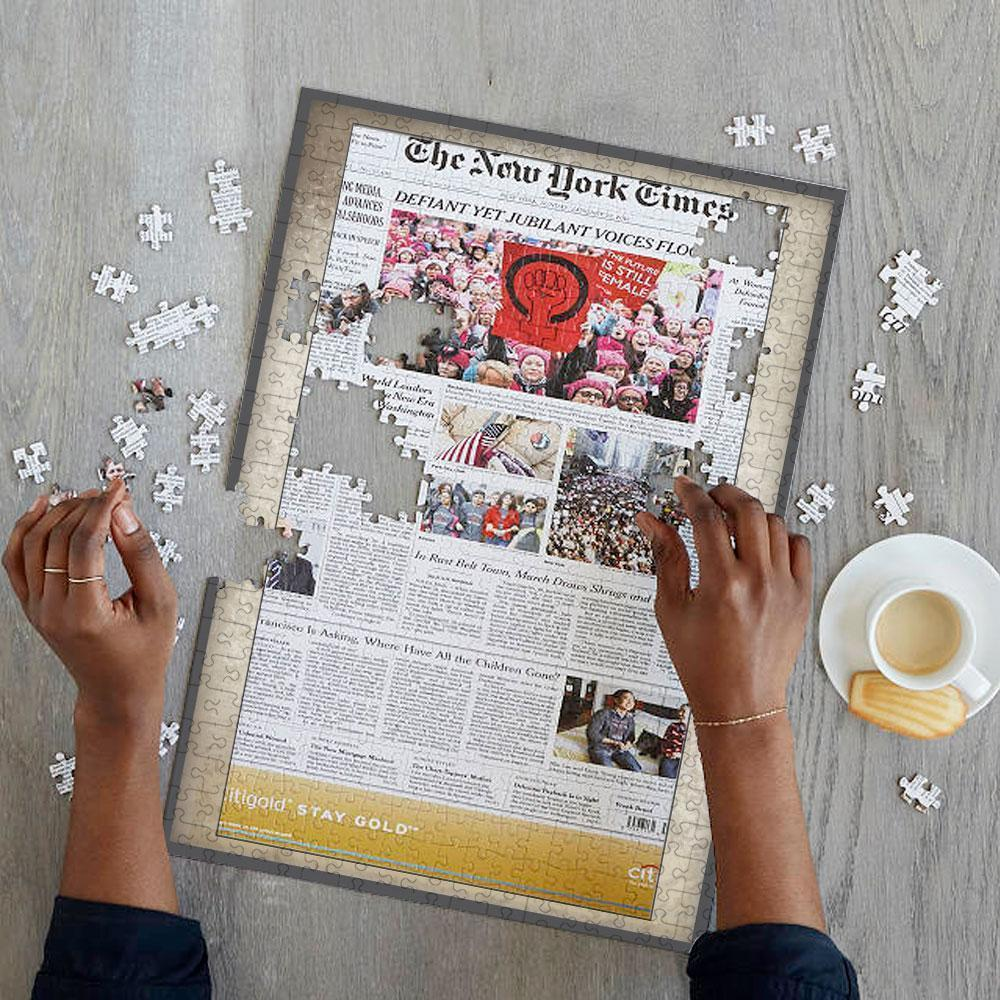 US Newspapers Jigsaw Puzzle Old NewsPaper Frame - On The Day You Were Born