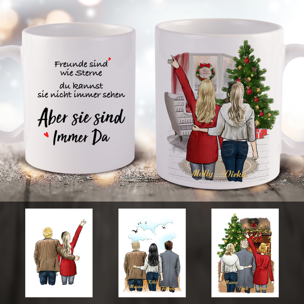 Personalized Christmas Coffee Mug - Family & Friends (Online Design & 3D Preview)