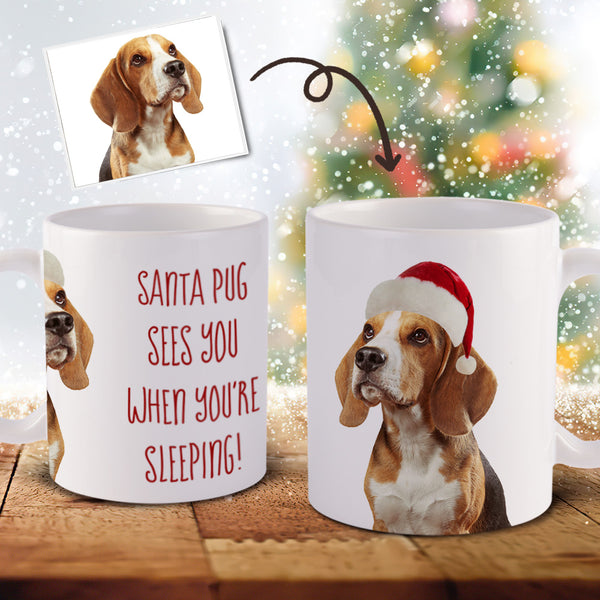 Custom Christmas Pet Photo Mug