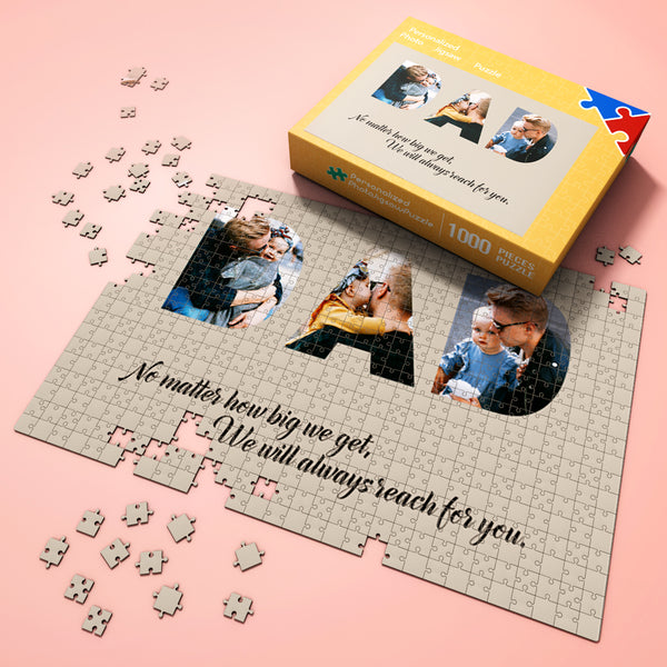 Custom Photo Jigsaw Puzzle Gifts 300-1000 pieces Great Memorible Gift for Dad