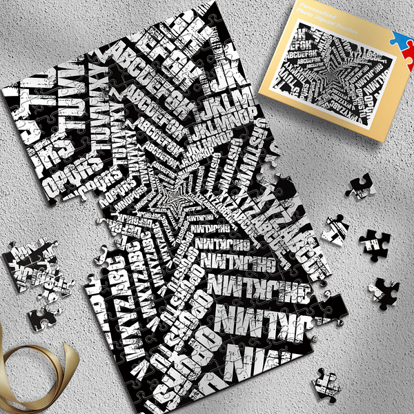 Personalized Alphabet Pentagram Puzzles Best Indoor Gifts 300-1000 Pieces