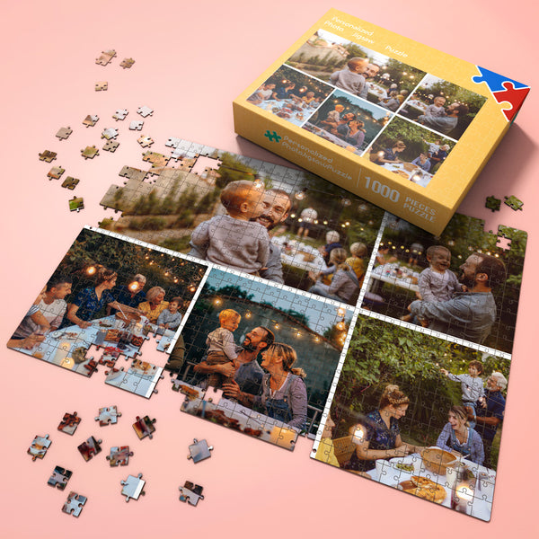 Custom Photo Jigsaw Puzzle for Pet Lovers with 5 photos