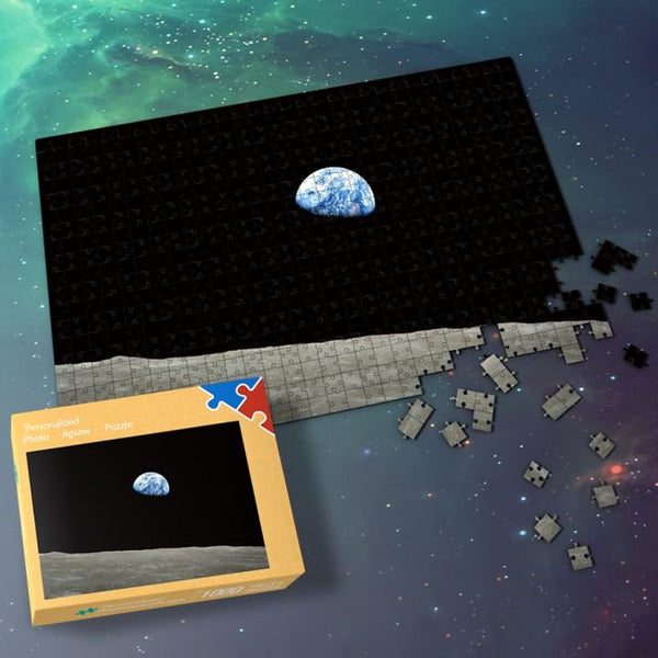 Space Jigsaw Puzzle 1000 Pieces Universe Puzzle Indoor For Family - Night Earth