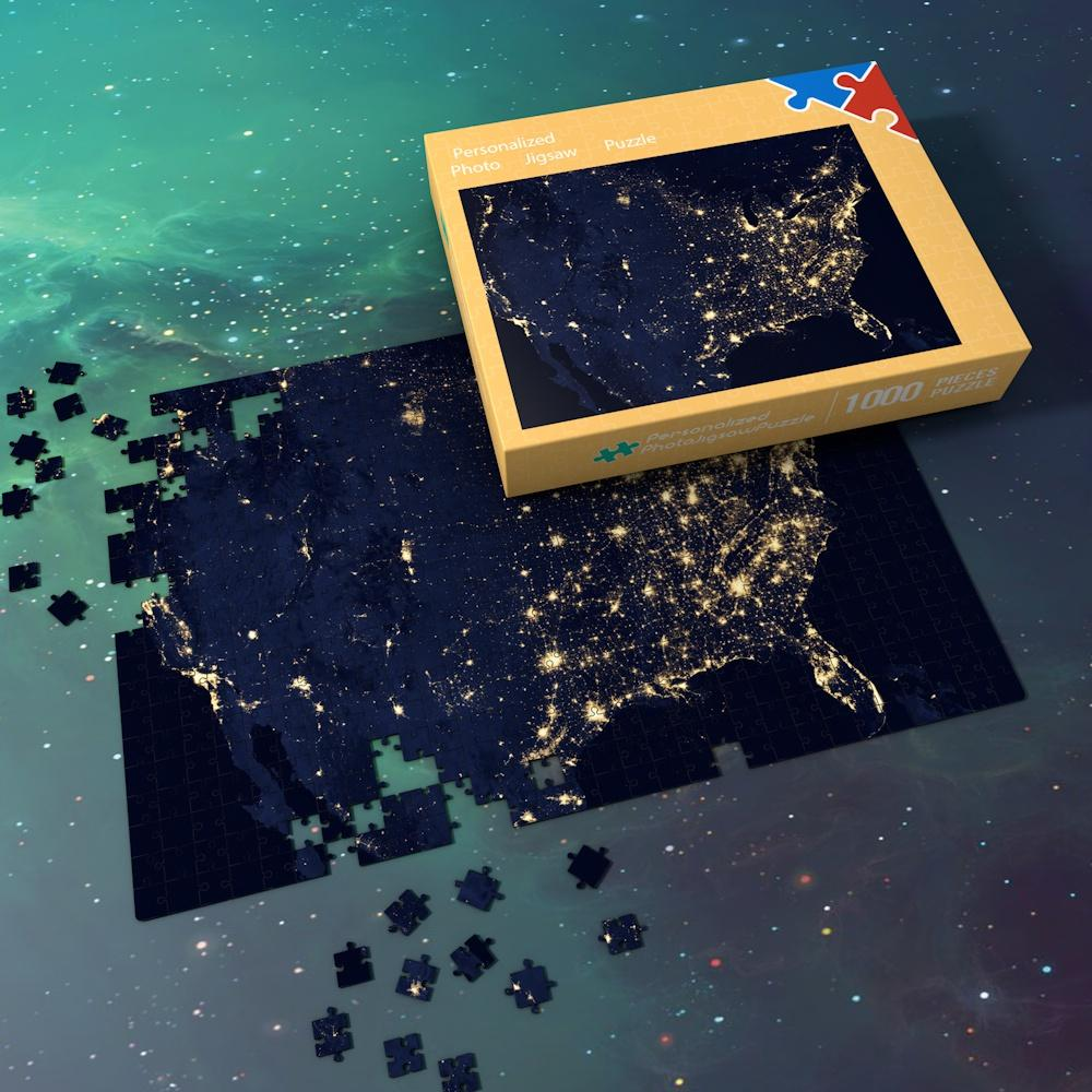 Space Themed Jigsaw Puzzle Best Gifts For Family And Friends - Bright Starry Sky