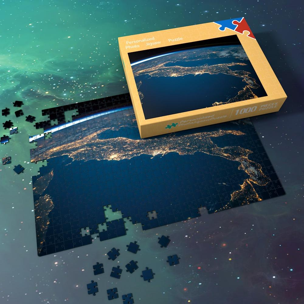Space Jigsaw Puzzle Universe Best Gifts Traditional Game For Family - Shining Lights On The Earth's Surface