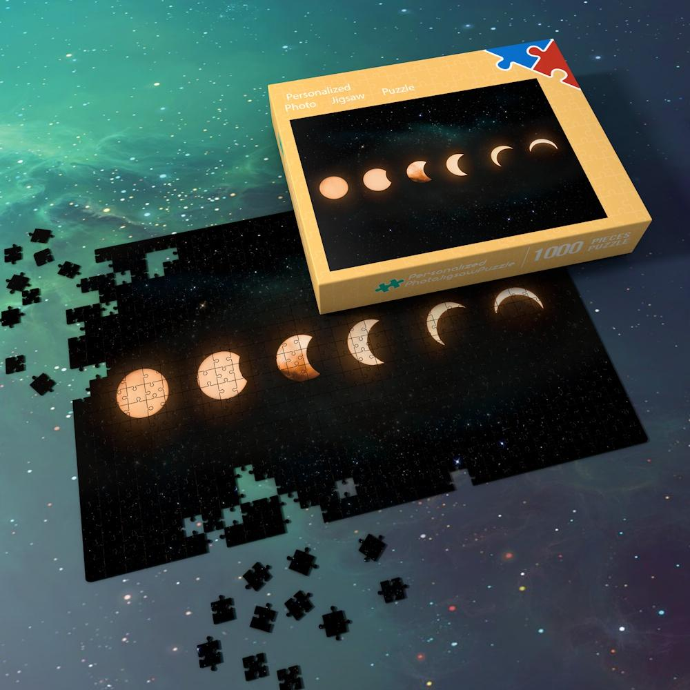 Space Jigsaw Puzzle 1000 Pieces Best Stay-at-home Gifts For Adults And Kids - Lunar Eclipse