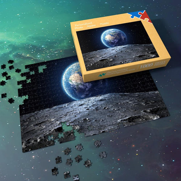 Space Jigsaw Puzzle Universe 1000 Pieces Best Gifts For Family - Earth And Moon Surface