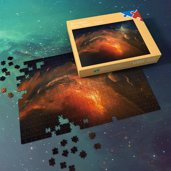 Space Shuttle Jigsaw Puzzle Best Gifts For Family And Friends - Fire Red Nebula