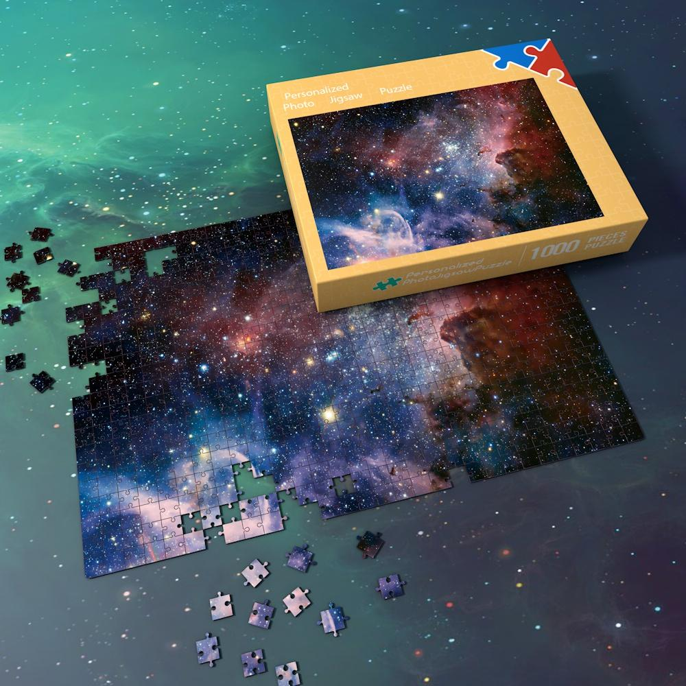 Space Jigsaw Puzzle Universe 1000 Pieces For Adults And Kids - Multicoloured Galaxy