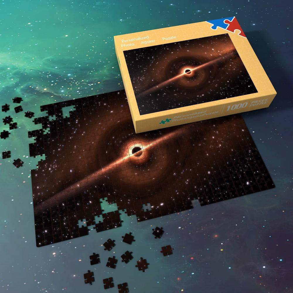 Space Jigsaw Puzzle Best Gifts For Family And Friends - The Planet of Glowing Red