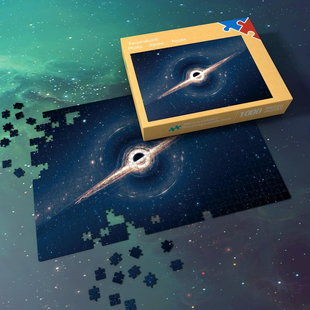 Space Jigsaw Puzzle Best Gifts For Family And Friends - The Planet of Glowing Blue