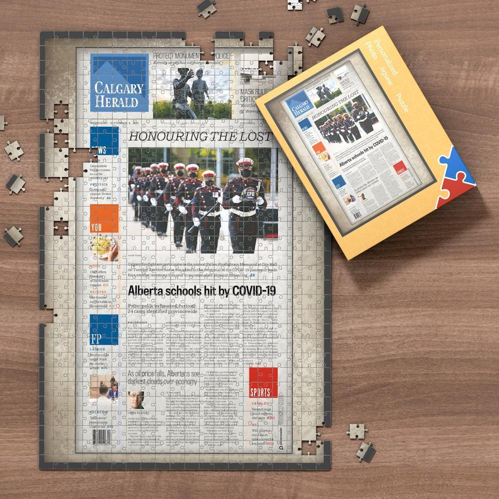 Canada Newspapers Jigsaw Puzzle - Calgary Herald