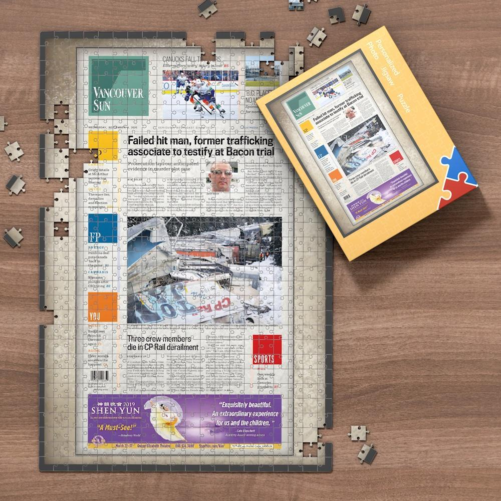 Father's Day Custom Canada Newspapers Jigsaw Puzzle -Vancouver Sun Newspapers-Your Memorise Day Jigsaw Puzzle