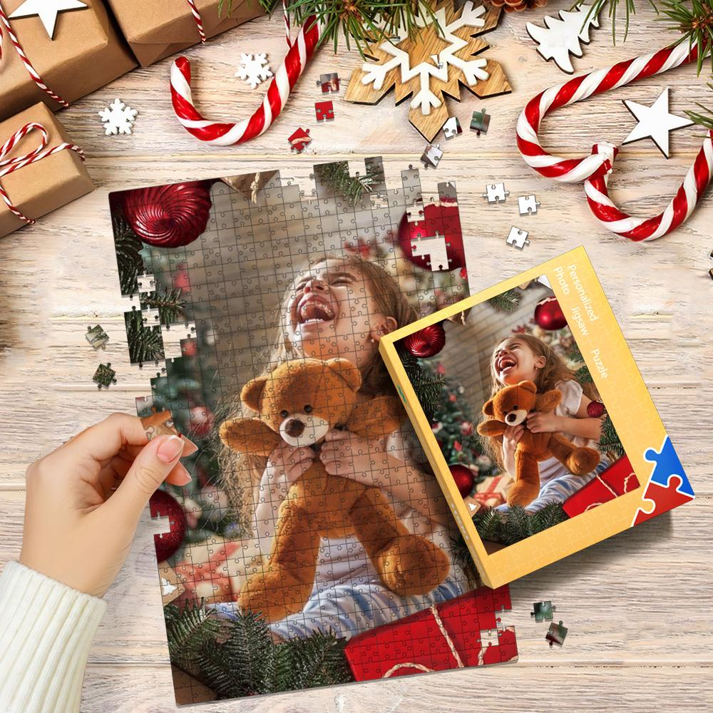 Custom Photo Jigsaw Puzzle Best Christmas Gifts - Merry Christmas 35-1000 pieces