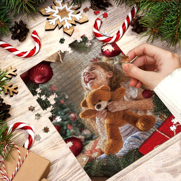 Custom Christmas Photo Jigsaw Puzzle 35-1000 Piece - Best Christmas Gift