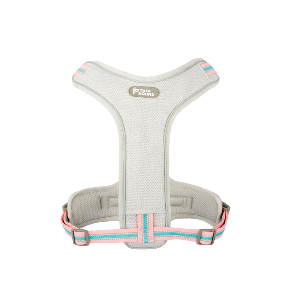 Pet Harness with Leash Nylon Harness Pink & White