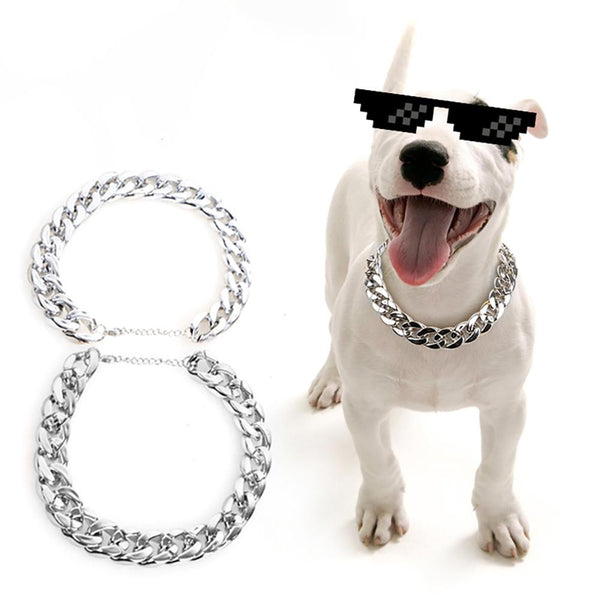 Funny Pet Necklace Plastic Necklace Silver