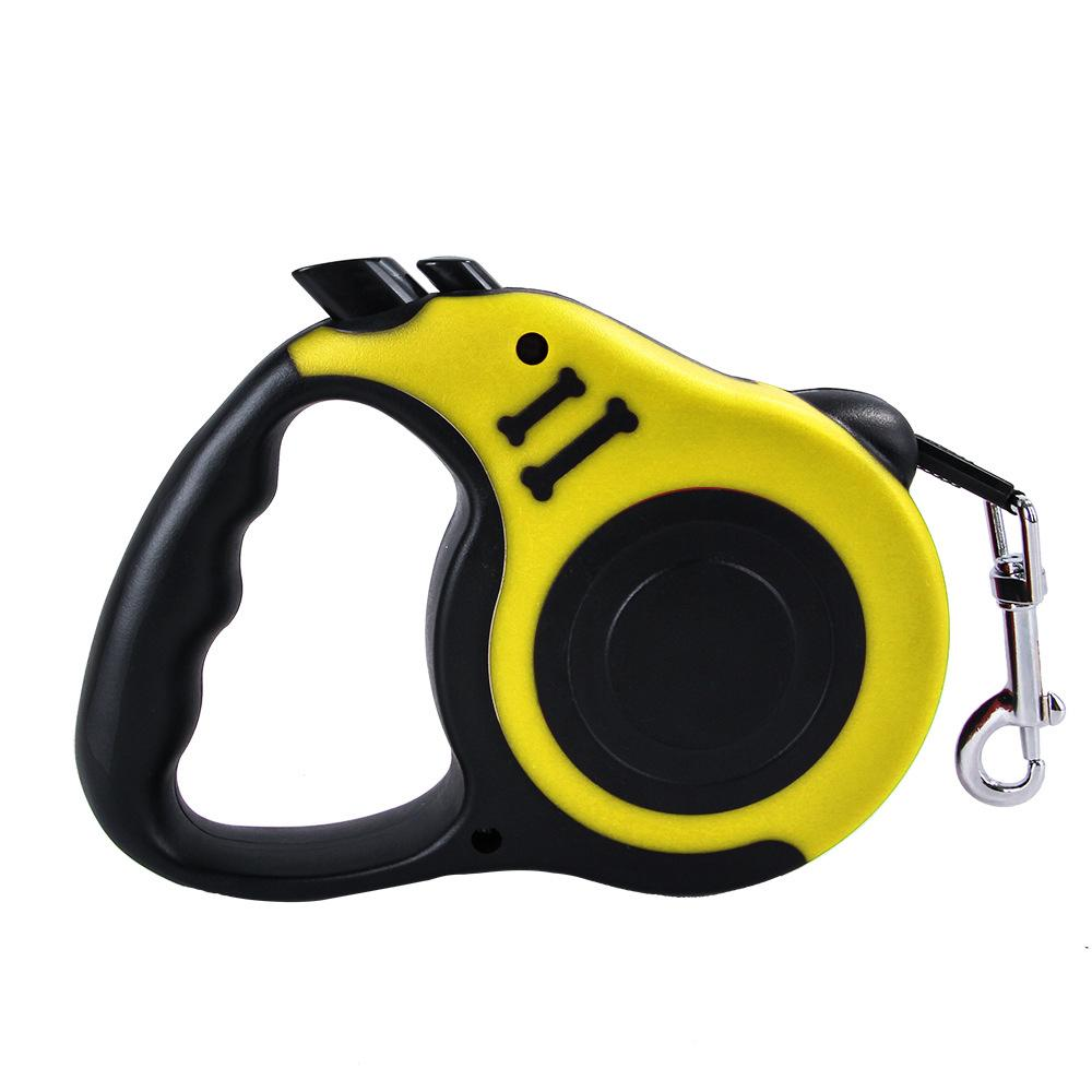 High Quality Durable Automatic Retractable Pet Leash for Large/Small Dog & Cat Yellow
