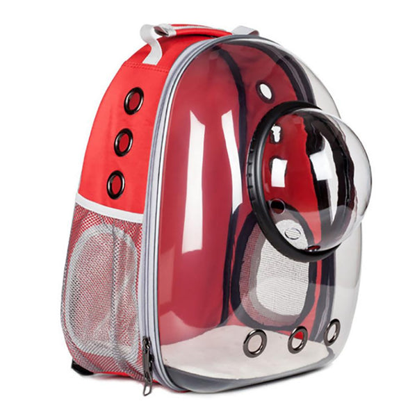 Pet Carrier Backpack Pet Bag Red