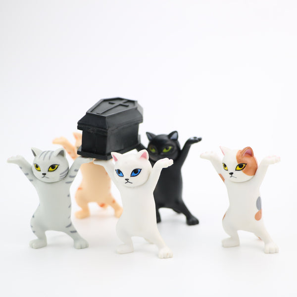 Children Funny Toys Carrying Coffin Cat Action Figures Interesting Cat Dolls Creative Ornaments